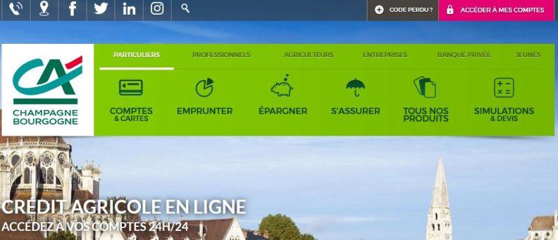 Credit Agricole Champagne Bourgogne en ligne