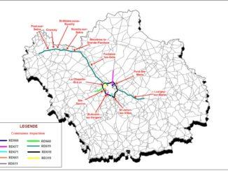 carte des routes du département de l'Aude