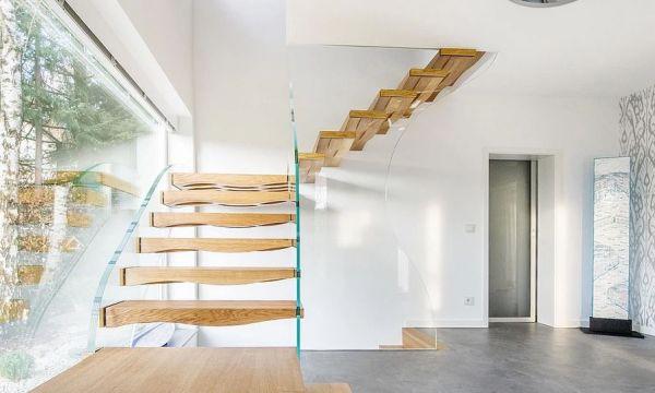 escalier flottant